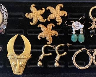 Misc. gold and silver jewelry