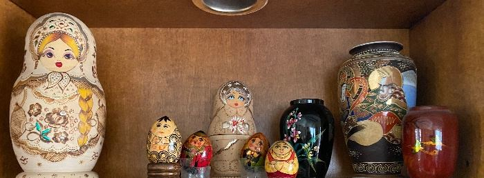 Russian hand painted nesting dolls
