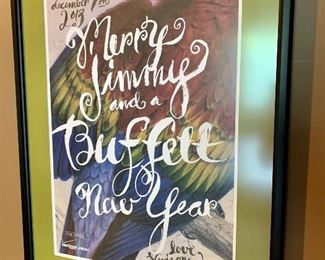 Verizon Arena framed Jimmy Buffett concert poster