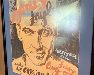 Verizon Arena framed James Taylor concert poster
