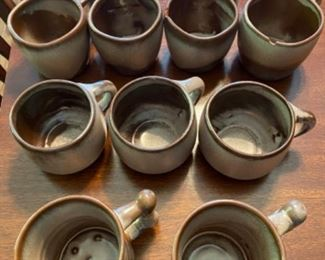 Frankoma pottery coffee mugs