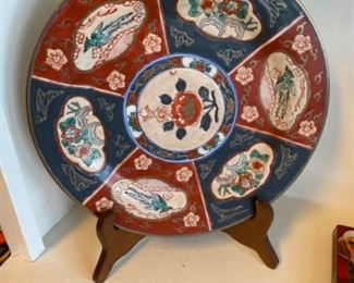 Chinoiserie plate and stand