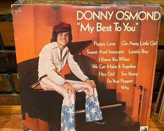 "Vintage record Donny Osmond, ""My Best to You"""