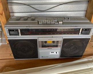 """Boom box"" portable AM/FM radio with cassette player"