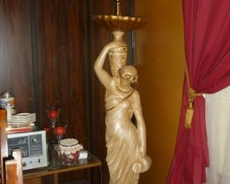 Funky large lady lamp