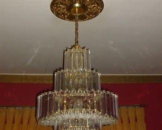 Fabulous vintage Lucite Chandelier