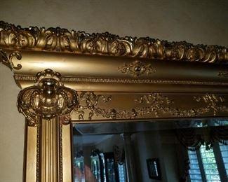 formal, gilded mirror