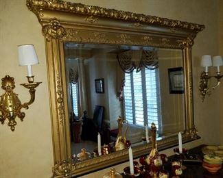 formal,gilded mirror