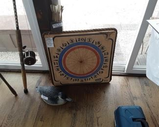 Vintage widdy  dartboard two sided.
