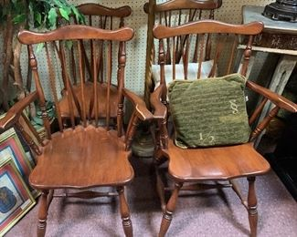 $175 ~ SET OF FOUR MAPLE CHAIRS TWO WITH ARMS