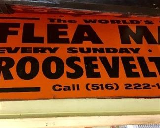 1970's Roosevelt Flea Market Metal Sign!