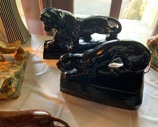 Vintage black panther ceramics