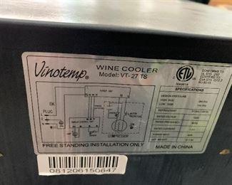 Vineotemp Wine Cooler VT-27 TS