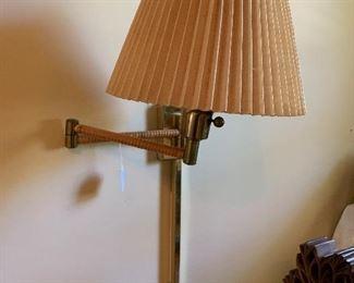 2 Wicker wall mount lamps