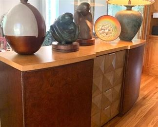 """Marge Carson credenza. 80"""" w x 39.5"""" t x 22.5"""" d  (note: items on top have already been sold)"""