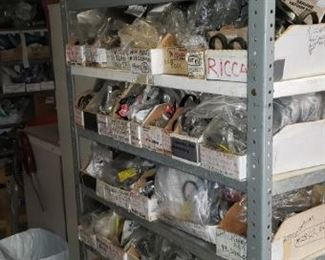 All Shelving available-To buy out inventory of parts IN LOTS...... dyson, riccar, hoover, bissel, lectrolyes, eureka, kenmore brushes and misc parts, oreck etc