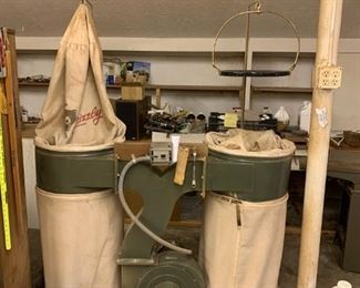 Grizzly shop dust vac system