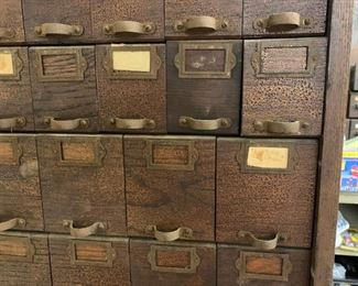 Variety of tool cubbies with drawers