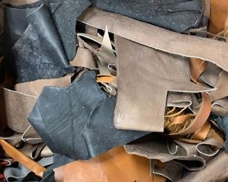 Leather scraps - much much more available