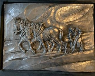 Pewter relief artwork
