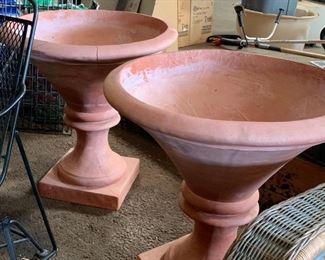 Large terra cotta vases