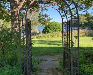 Wrought iron arbor