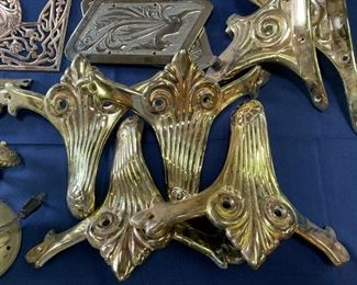 Brass architectural hardware and decorative elements