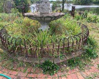 Circular garden railing