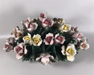 24. Large Capodimonte Floral Rose Spray Centerpiece. $150.00