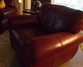 couple of leather club chairs