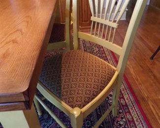 closeup of chairs