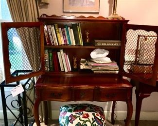Pretty Secretary desk & crewel stool