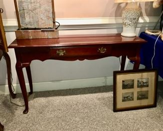 Queen Anne style console table