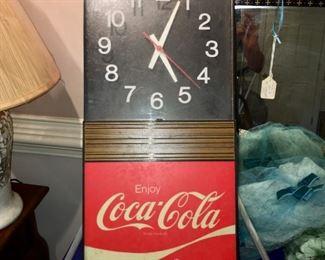 Vintage Coca Cola electric clock