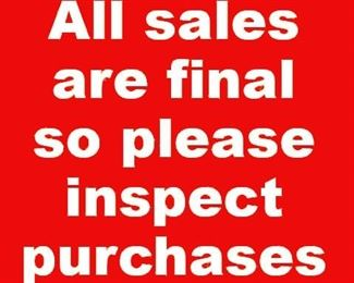 All sales final