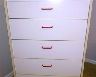 White tall dresser