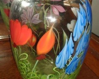 Orient & Flume art glass floral vase