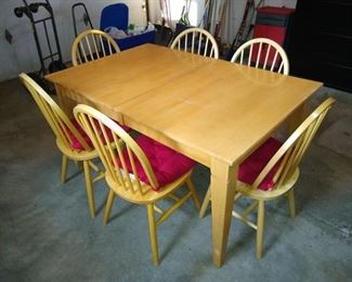 Another kitchen table with 6 chairs