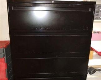 Large 4-drawer file cabinet