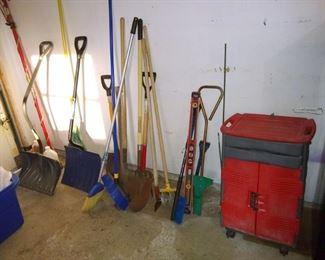 Garage misc...garden tools