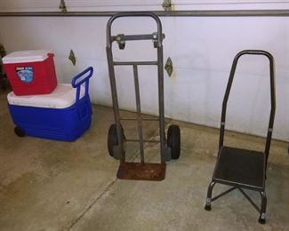 Hand truck. Coolers