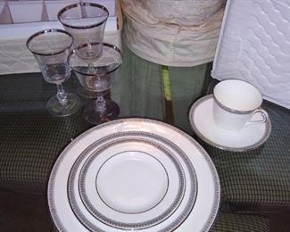 """Royal Doulton """"Ravenswood"""" china and stemware"""