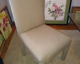 Set of six parsons chairs