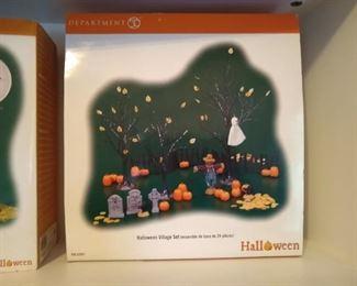 Halloween Department 56 village pieces
