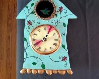 Allen Designs - cute bird clock