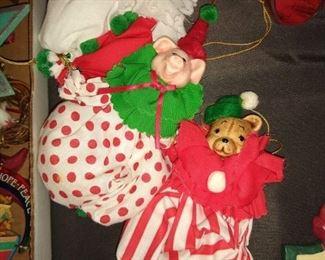 Adorable animal clown ornaments