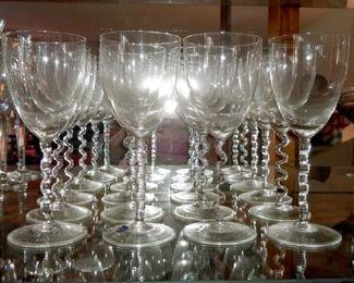 Bohemia glass stemware set