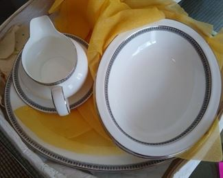 Serving pieces for the fine china set