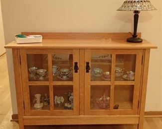 MISSION STYLE CURIO CABINET
