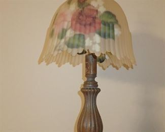HAND PAINTED GLASS LAMP